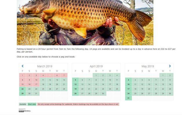 iBookfishing Booking Page